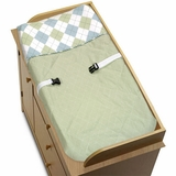 Argyle Green Changing Pad Cover by Sweet Jojo Designs