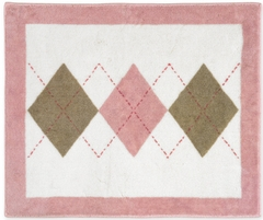 Argyle Pink Accent Floor Rug by Sweet Jojo Designs