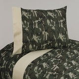 Army Green Camo  4 Piece Queen Sheet Set