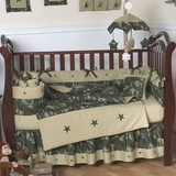 Army Green Camo Baby Bedding - 9 Piece Crib Set