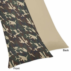 Army Green Camo Collection Body Pillow Cover