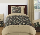 Army Green Camo - Kids Bedding 4 Piece Twin Set