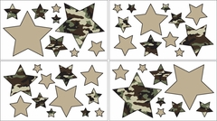 Army Green Camo Wall Decals - Set of 4 Sheets by Sweet Jojo Designs