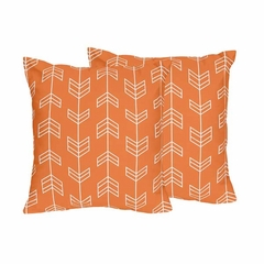 Arrow Orange and Navy Collection Arrow  Accent Throw Pillows