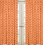 Arrow Orange and Navy Collection Arrow Print Window Panels