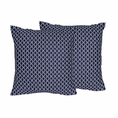 Arrow Orange and Navy Collection Hexagon Accent Throw Pillows