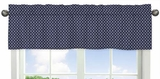 Arrow Orange and Navy Collection Hexagon Window Valance