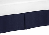 Arrow Orange and Navy Collection Toddler Bed Skirt
