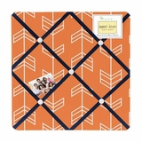 Arrow Orange and Navy Fabric Memo Board