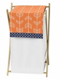 Arrow Orange and Navy Hamper by Sweet Jojo Designs