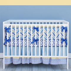 Asher Boys Chevron Baby Bedding Crib Set - Caden Lane