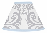 Avery Blue and Gray Lamp Shade by Sweet Jojo Designs