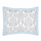 Avery Blue and Gray Pillow Sham by Sweet Jojo Designs