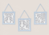 Avery Blue and Gray Wall Hangings by Sweet Jojo Designs