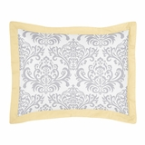 Avery Yellow and Gray Pillow Sham by Sweet Jojo Designs