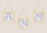 Avery Yellow and Gray Wall Hangings by Sweet Jojo Designs