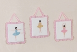 Ballerina 3 Piece Wall Hangings by Sweet Jojo Designs