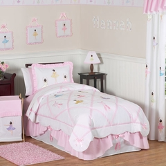 Ballerina Bedding - Kids Bedding Twin 4 Piece Set