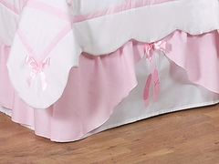 Ballerina Toddler Bed Skirt by Sweet Jojo Designs