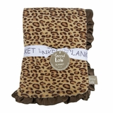Berry Leopard Print Baby Blanket by Trend Lab