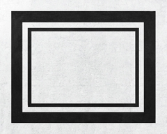 Black and White Modern Hotel Accent Floor Rug