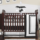 Black and White Modern Hotel Baby Bedding 9 Pc Crib Set