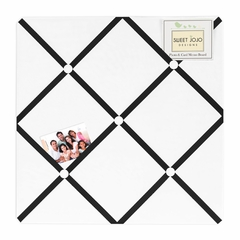 Black and White Modern Hotel Fabric Memo Board by Sweet Jojo Designs