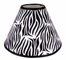 Black and White Zebra Print Lamp Shade