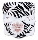 Black and White Zebra Print Zahara Hooded Baby Bath Towel