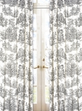Black Toile Window Panel Curtains by Sweet Jojo Designs