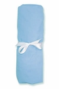 Blue 100% Cotton Jersey Crib Sheet