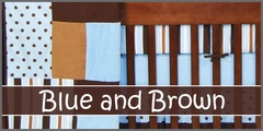 Blue and Brown Baby Bedding