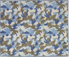 Blue Camo Accent Floor Rug by Sweet Jojo Designs