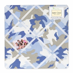 Blue Camo Fabric Memo Board
