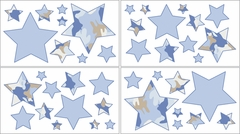 Blue Camo Wall Decals - Set of 4 Sheets by Sweet Jojo Designs