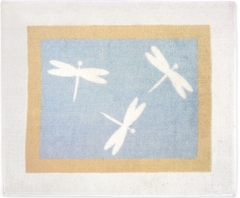 Blue Dragonfly Dreams Accent Floor Rug by Sweet Jojo Designs