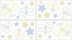 Blue Dragonfly Dreams Wall Decals by Sweet Jojo Designs