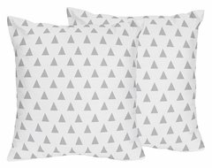 Boho Arrow Navy and Mint Collection Triangle Print Throw Pillows