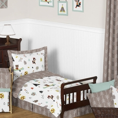 Boy's Outdoor Nature Toddler Bedding Collection - 5 Pc Set