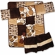 Bubbles Brown Modern Geometric Baby Bedding - 4 Piece Crib Set