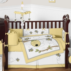 Honey Bee Baby Bedding - 9 Piece Crib Set