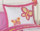 Butterfly Pink and Orange Pillow Sham by Sweet Jojo Designs