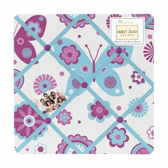 Butterfly Purple and Turquoise Fabric Memo Board