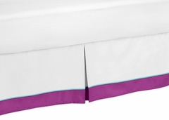 Butterfly Purple and Turquoise Toddler Bed Skirt