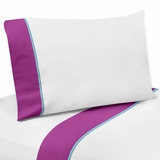 Butterfly Purple and Turquoise Collection Twin Sheet Set