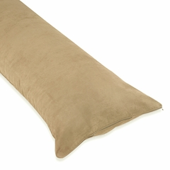 Camel Microsuede Body Pillow Cover