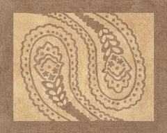 Camel Paisley Accent Floor Rug by Sweet Jojo Designs