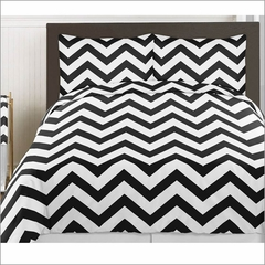 Chevron Black and White 3pc Teen or Kids Full/Queen Bedding Collection