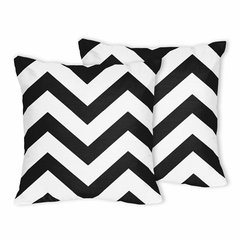 Chevron Black and White Decorative Accent Throw Pillows