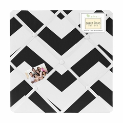Chevron Black and White Fabric Memo Board by Sweet Jojo Designs